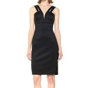 Guess Plunge Neck Bodycon Party Cocktail Dress